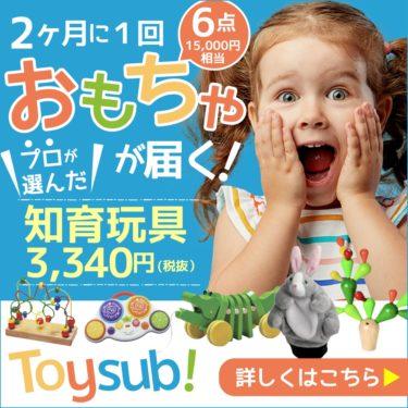 あなたの【トイサブ!】知育玩具の定額レンタルサービス(子供の年齢でカスタマイズ)を測定