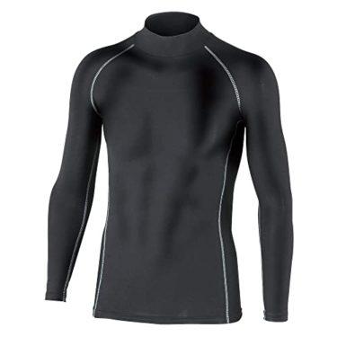 おたふく手袋 ボディータフネス 保温 コンプレッション パワーストレッチ 長袖 ハイネックシャツ JW-170 ブラック Mを減らしながら○○を増やす