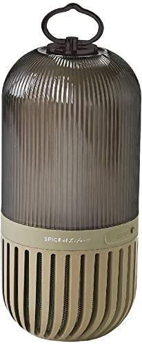 SPICE OF LIFE(スパイス) ゆらぎカプセルスピーカー カーキ Bluetooth 防塵 防水 LED 充電式 CS2020KHに挑め