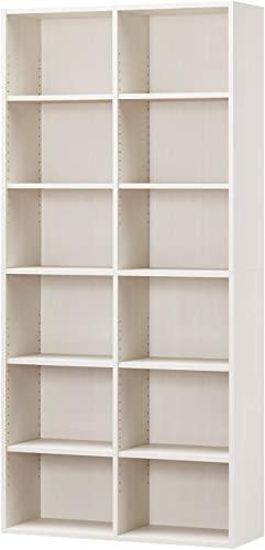 目指しているのは、白井産業ラック 本棚 ホワイト 白木目 約 幅90 奥行30 高さ180 cm (AMZ-1890WH)